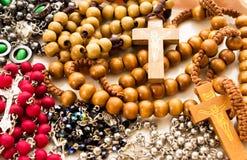 Variantes de collier de chapelet Images libres de droits
