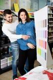 Variantes de examen de modèle de couleurs de couples Images stock