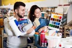 Variantes de examen de modèle de couleurs de couples Photographie stock