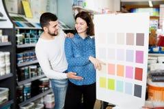 Variantes de examen de modèle de couleurs de couples Image libre de droits