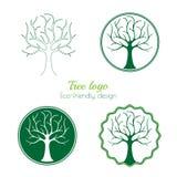 Variantes de un logotipo del árbol Imagenes de archivo