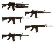 Variantes del rifle de asalto M4 Foto de archivo libre de regalías