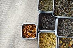Variantes des thés photo stock