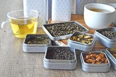 Variantes des thés photos stock