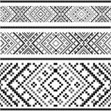 Varianti dell'ornamento etnico - black&white Immagine Stock Libera da Diritti
