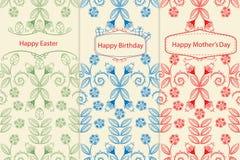 Varianti delle cartoline d'auguri Immagini Stock