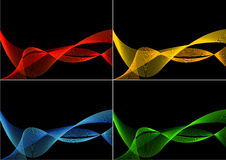 4 Variants of Abstract Background Royalty Free Stock Image