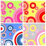Variants of a background. Four variants of a background with circles of different colors Royalty Free Stock Photography