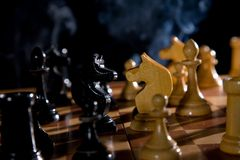 Variants chess composition Stock Image
