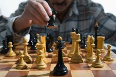 Variants chess composition Royalty Free Stock Photos