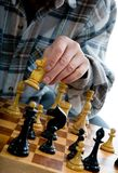 Variants chess composition Stock Photo