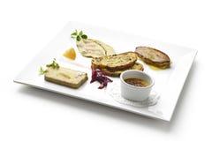 Variants of foie gras stock photo