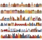 Variants of houses. Various variants of houses on the white Royalty Free Stock Photos