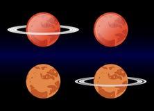 Variants Mars images. eps 10 vector illustration. Variants Mars images. orange and red Mars with ring . eps 10 vector illustration Royalty Free Stock Image