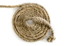 Variants of the rope with node on white Royalty Free Stock Photo