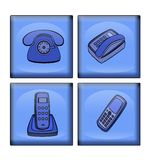 Variants  of  telephone Stock Images