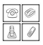Variants  of  telephone Stock Photography
