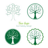 Variants of a tree logo Stock Images