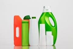 Varias botellas del plástico fotografía de archivo libre de regalías