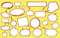 Varias burbujas del discurso Fotografía de archivo libre de regalías