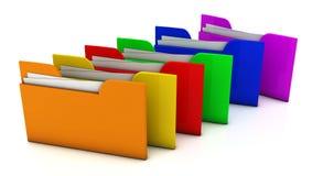 carpeta de archivos 3d Fotografía de archivo libre de regalías