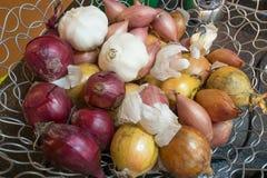Varias cebollas Imagen de archivo