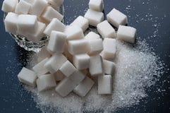 Varias clases de azúcar Visión superior, primer Imágenes de archivo libres de regalías