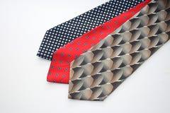 Varias corbatas del mens fotografía de archivo libre de regalías