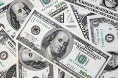 Varias cuentas de dólar imagen de archivo