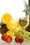 Varias ensaladas de fruta Imagen de archivo libre de regalías