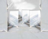 Varias escaleras de las opciones fotografía de archivo libre de regalías