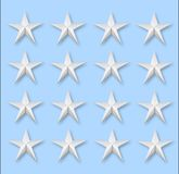 Varias estrellas en azul Fotografía de archivo