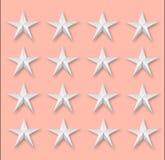 Varias estrellas en rosa Foto de archivo libre de regalías