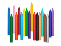 Varias etiquetas de plástico del color Imagen de archivo libre de regalías