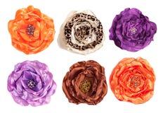 Varias flores artificiales - visión superior Imagenes de archivo