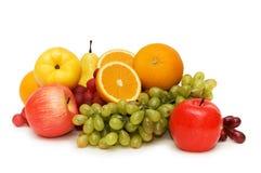 Varias frutas aisladas Imágenes de archivo libres de regalías