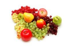 Varias frutas del verano aisladas Fotografía de archivo