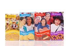 Varias galletas del girl scout Fotografía de archivo libre de regalías