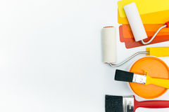 Varias herramientas de la pintura Imagen de archivo libre de regalías