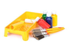 Varias herramientas de la pintura Fotos de archivo libres de regalías