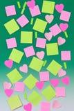 Varias hojas de papel en verde Foto de archivo libre de regalías