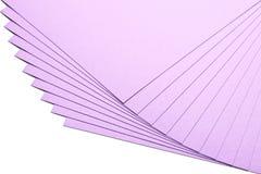 Varias hojas del papel Fotografía de archivo