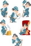 Varias imágenes de un caballero ilustración del vector