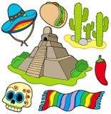 Varias imágenes mexicanas ilustración del vector
