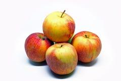 Varias manzanas dobladas por una diapositiva imágenes de archivo libres de regalías