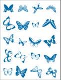 Varias mariposas Foto de archivo libre de regalías