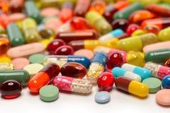 Varias píldoras Imágenes de archivo libres de regalías