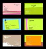 Varias tarjetas de visita stock de ilustración