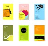 Varias tarjetas de visita verticales Fotografía de archivo