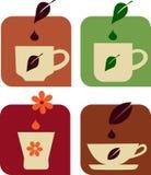 Varias tazas de té Imagen de archivo libre de regalías